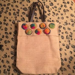 Jute Tote Bag with Double Shoulder Straps